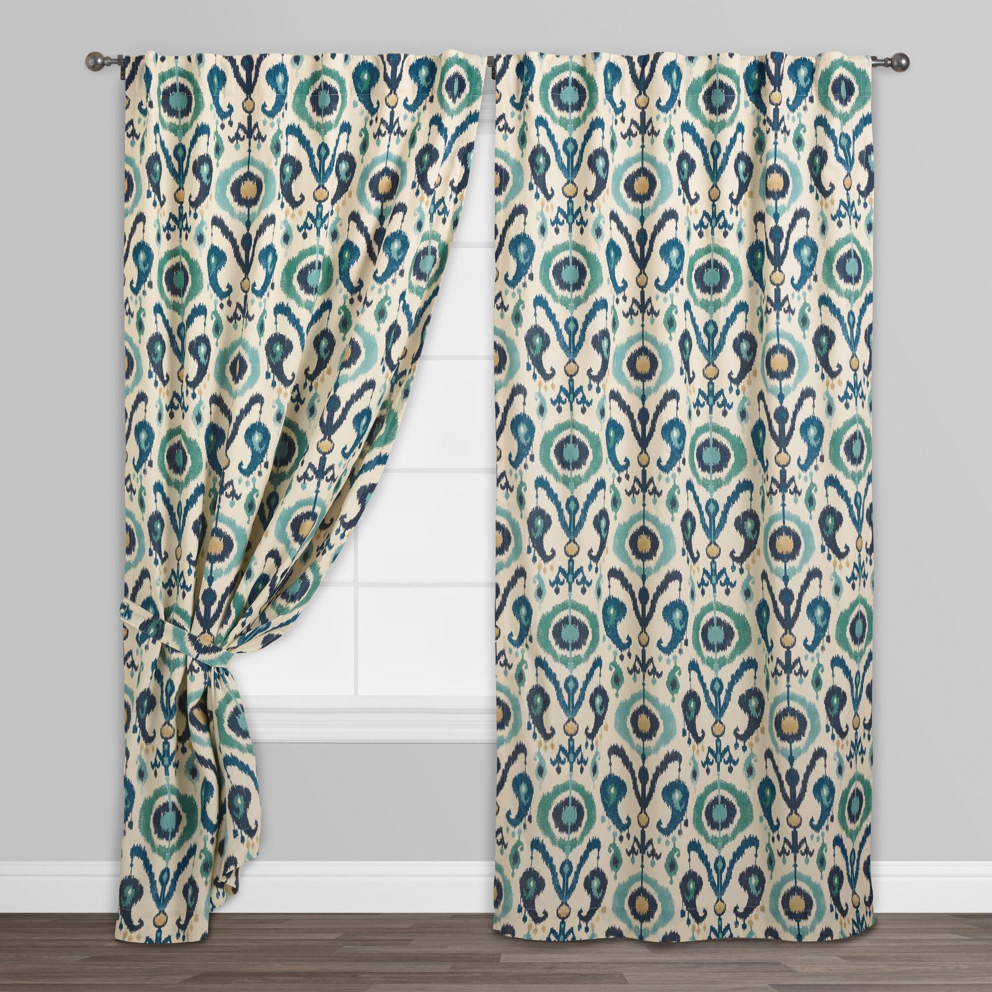 Navy ikat curtains - Navy Ikat Curtains 36