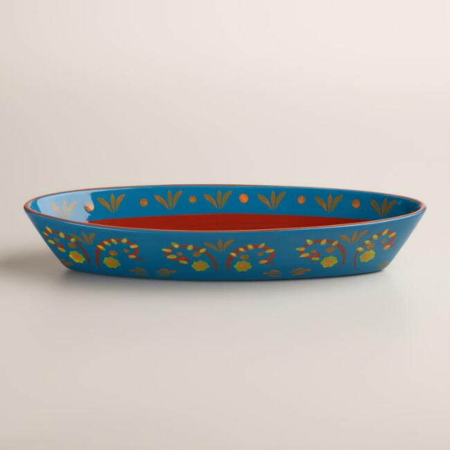 Terracotta Havana Oval Serving Bowl