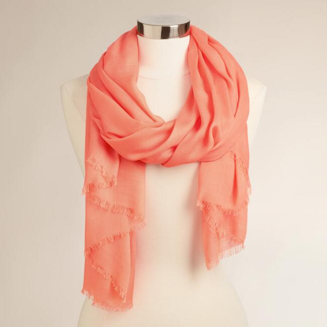 Sheer Coral Scarf