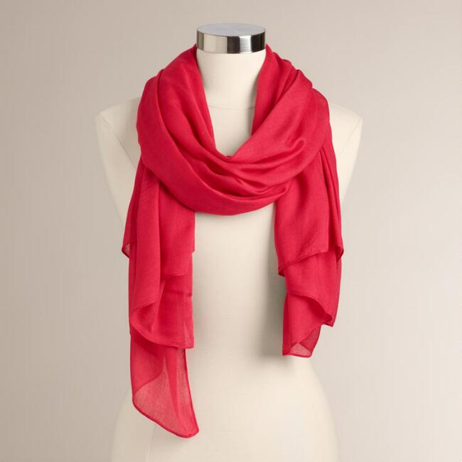 Deep Coral Luxe Scarf