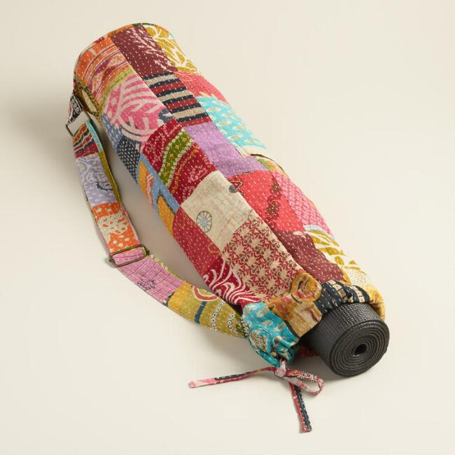 Kantha Patchwork Yoga Bag