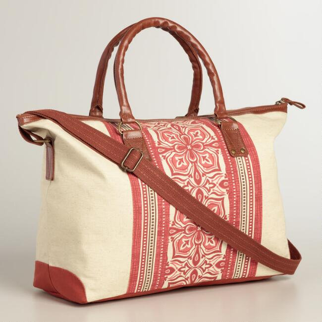 Coral Medallion Weekender Bag