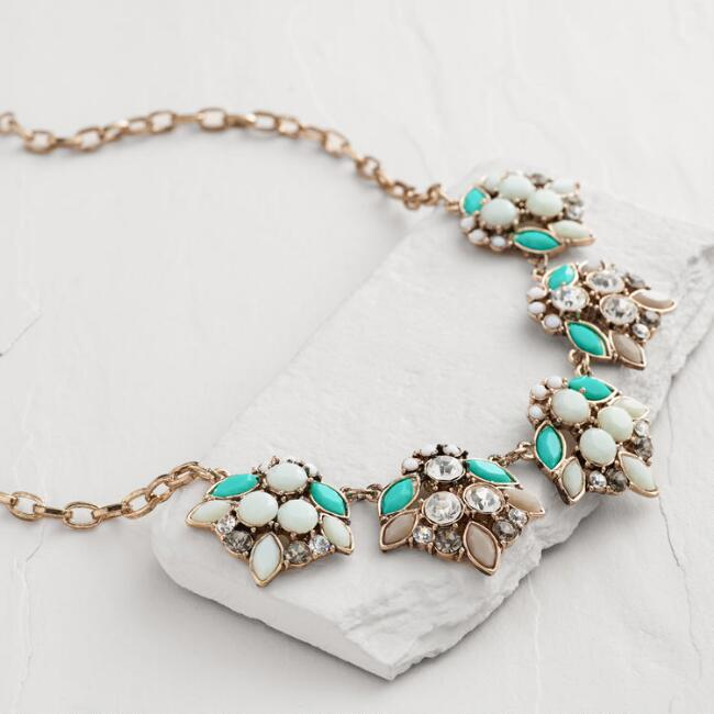 Turquoise and Mint Statement Necklace