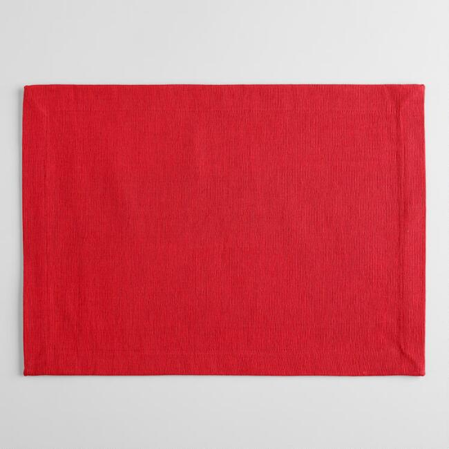 Chili Pepper Red Khadi Placemats Set Of 4