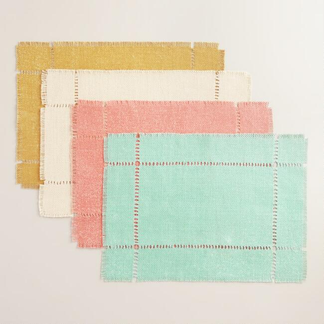 Washed Jute  Placemats Set of 4