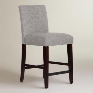 Linen Blend Kerri Upholstered Counter Stool