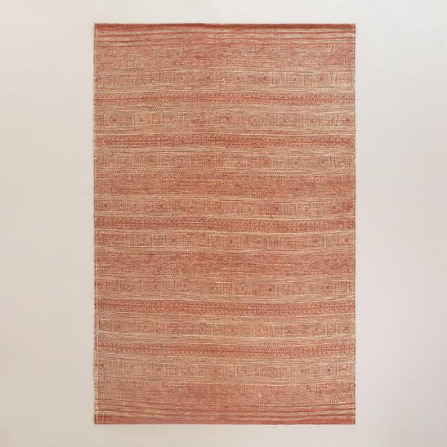 5x8 Blush Cotton Sadie Area Rug
