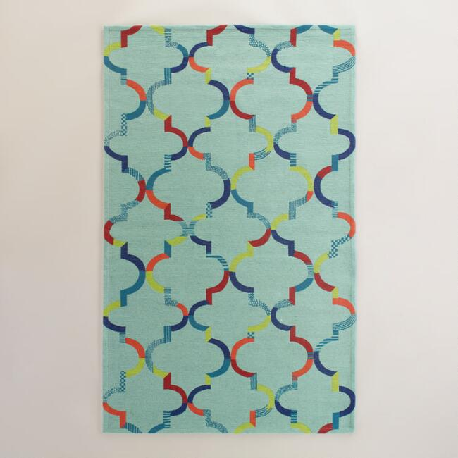 Multicolor Oceans Gate Indoor Outdoor Rug