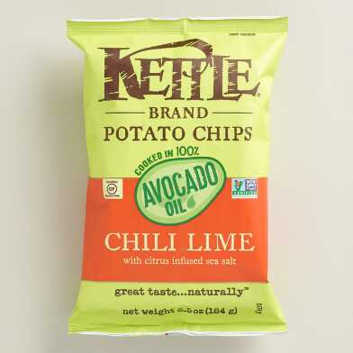 Kettle Avocado Oil Chili Lime Potato Chips Set of 12