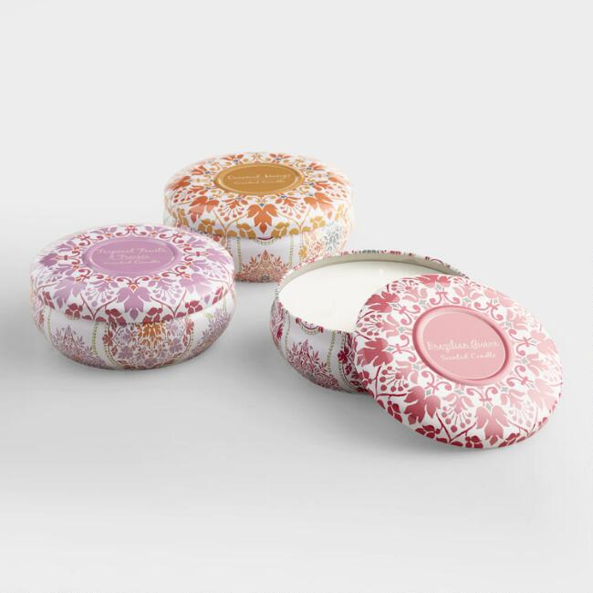 Julianna Fruit and Floral Candle Tin Collection