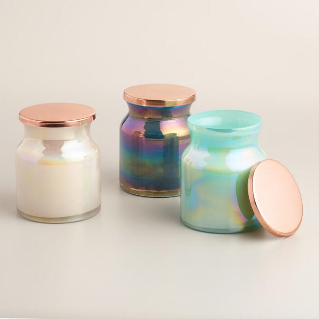Lustre Filled Jar Candle Collection