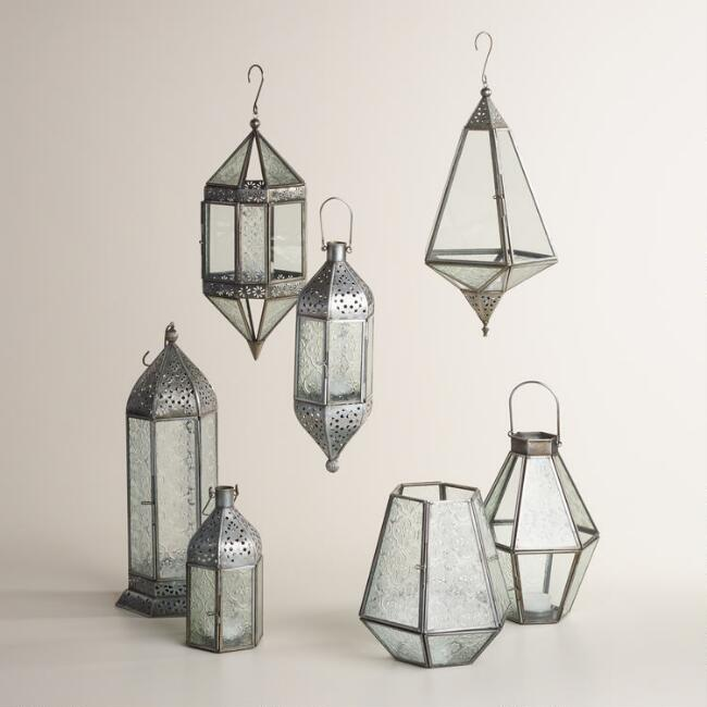 Antique Zinc and Glass Raya Lantern Collection