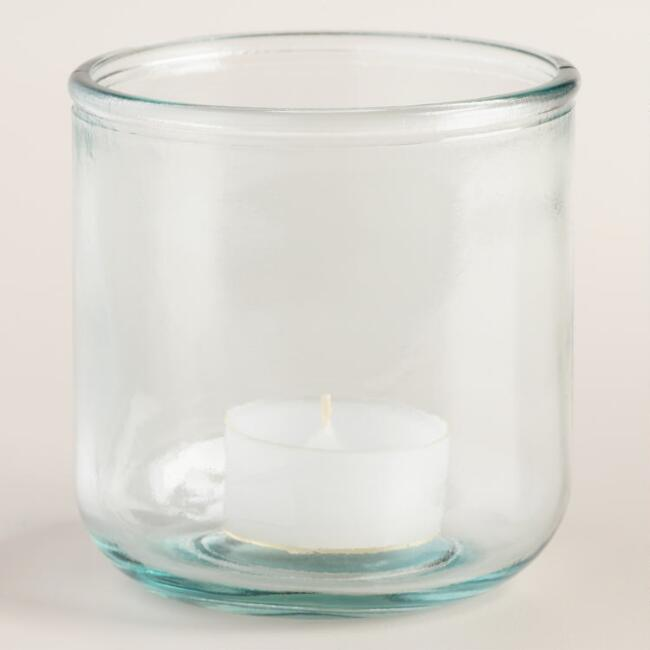 Recycled Glass Tealight Candleholders Set of 2