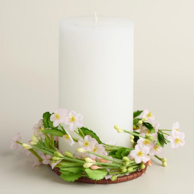 Floral Easter Candle Ring