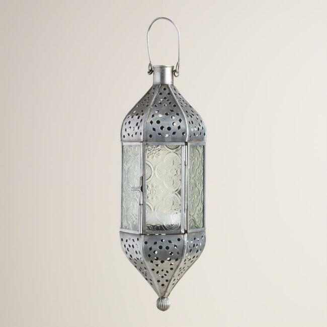 Small Clear Glass Raya Hanging Lantern
