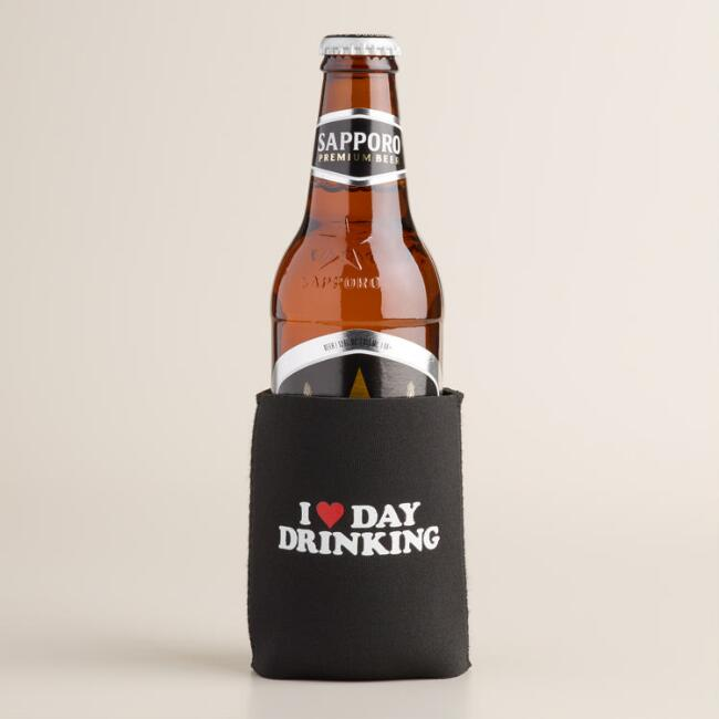 I Heart Day Drinking Collapsible Can Sleeve Set of 2