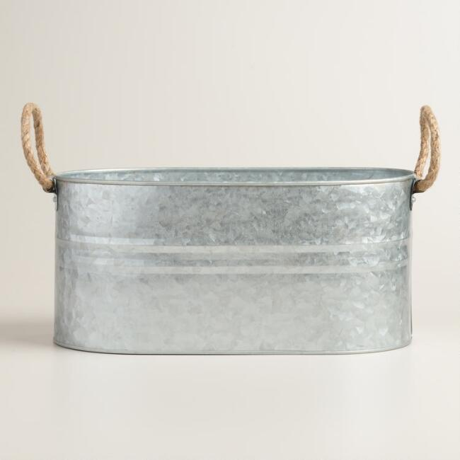 Galvanized Trough Ice Bucket