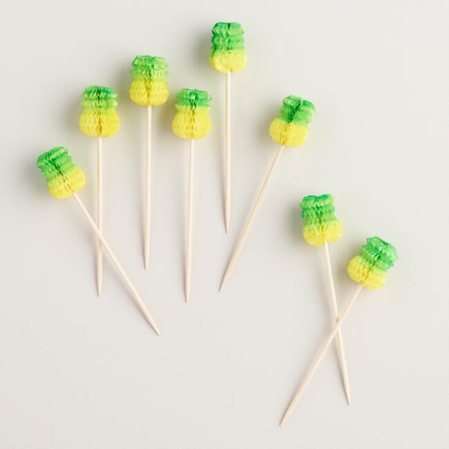 Pineapple Cocktail Picks 12 Pack