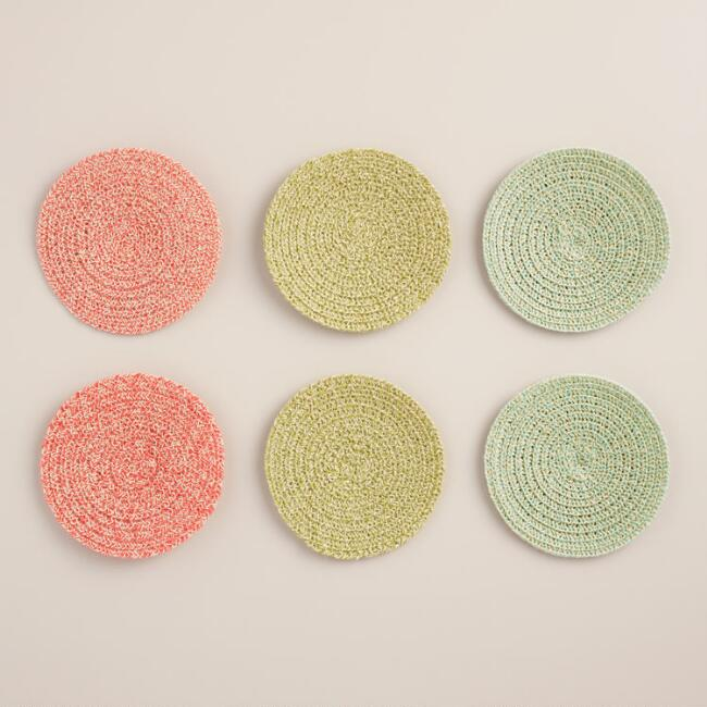 Braided Coasters Set of 6