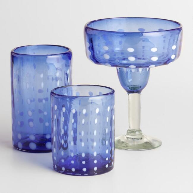 Blue Madrid Glassware Collection