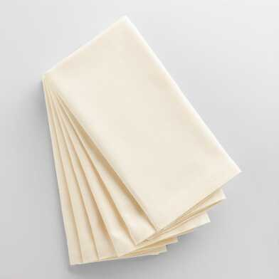 Ivory Buffet Napkins Set of 6