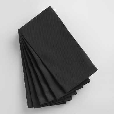 Black Buffet Napkins Set of 6