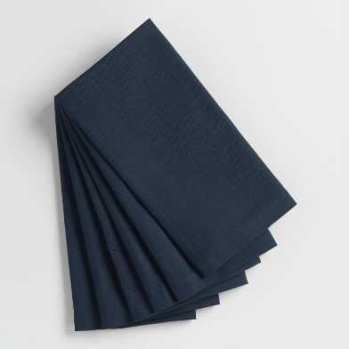 Dark Indigo Blue Buffet Napkins Set of 6