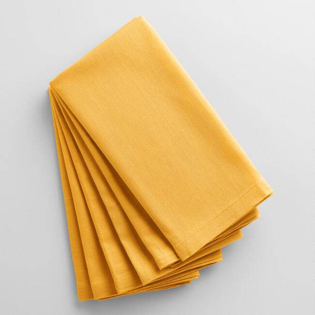 Mimosa Yellow Buffet Napkins Set of 6