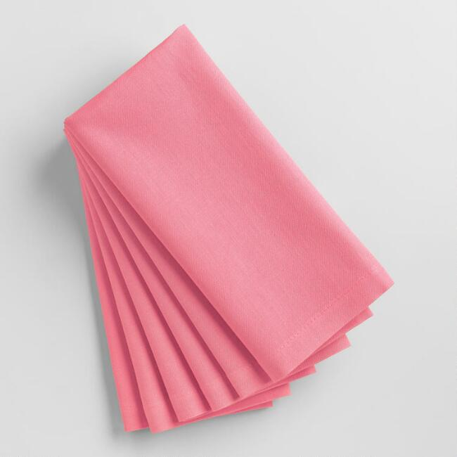 Pink Buffet Napkins, Set of 6