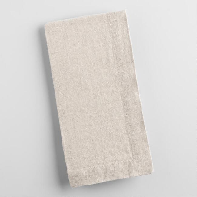 Natural 100% Linen Napkins Set of 4