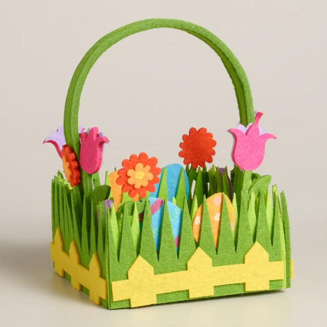 Small Felt Grass Easter Basket