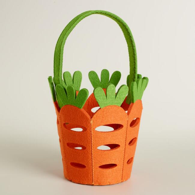 Large Felt Carrot Easter Basket