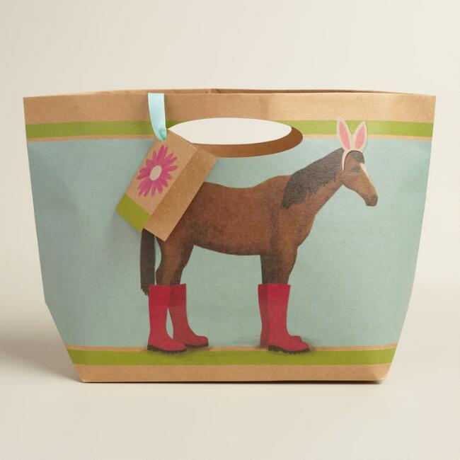 Horse Easter Market Bags Set of 2
