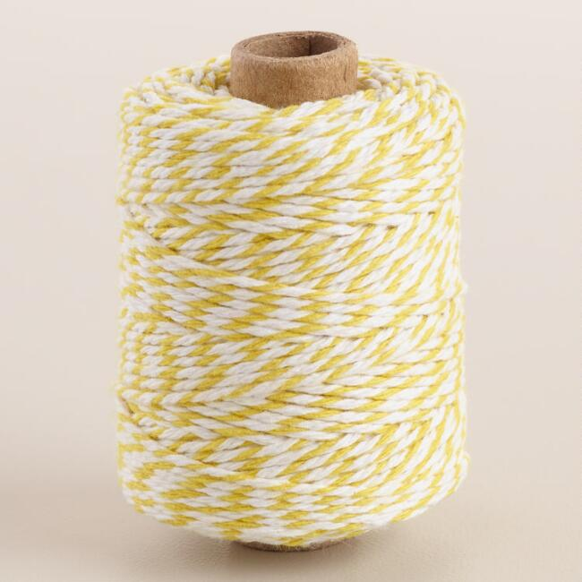 Yellow Twist Cotton Twine Set of 2