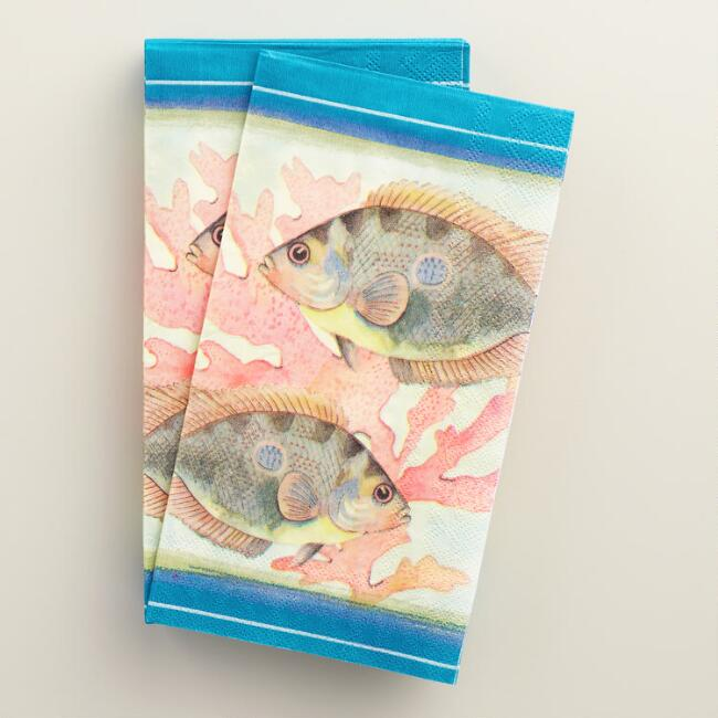Fish Seaside Modern Guest Napkins 20 Count