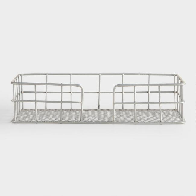 Galvanized Wire Napkin Basket