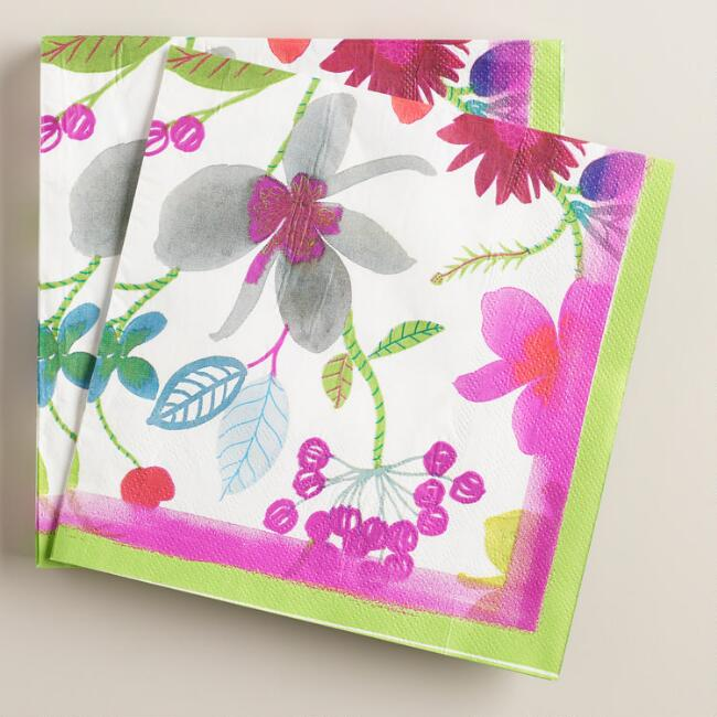 Floral Lunch Napkins 20 Count