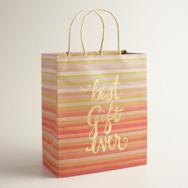 Large Best Gift Ever Kraft Gift Bags Set of 2