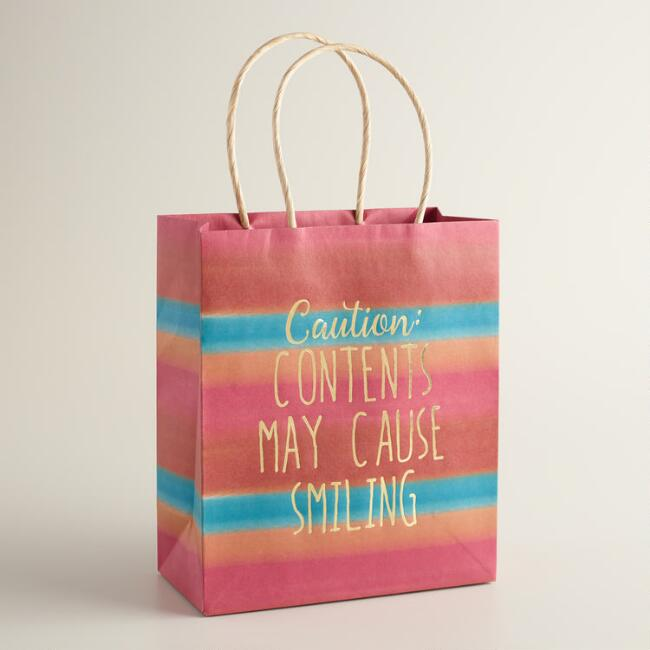 Medium Contents May Cause Smiling Gift Bags Set of 2