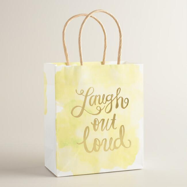 Small Laugh Out Loud Kraft Gift Bags Set of 2