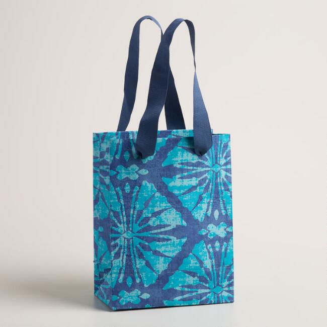 Small Sea Ikat Handmade Gift Bags Set of 2