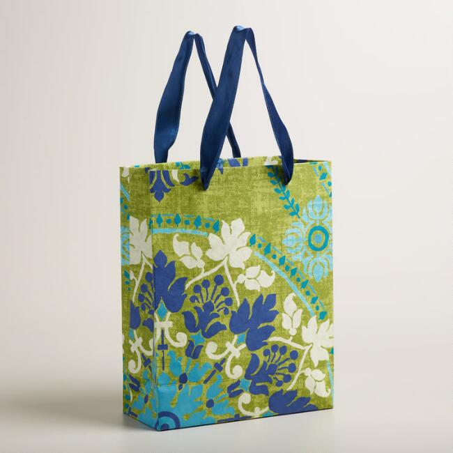 Large Green Zoom Medallion Handmade Gift Bags
