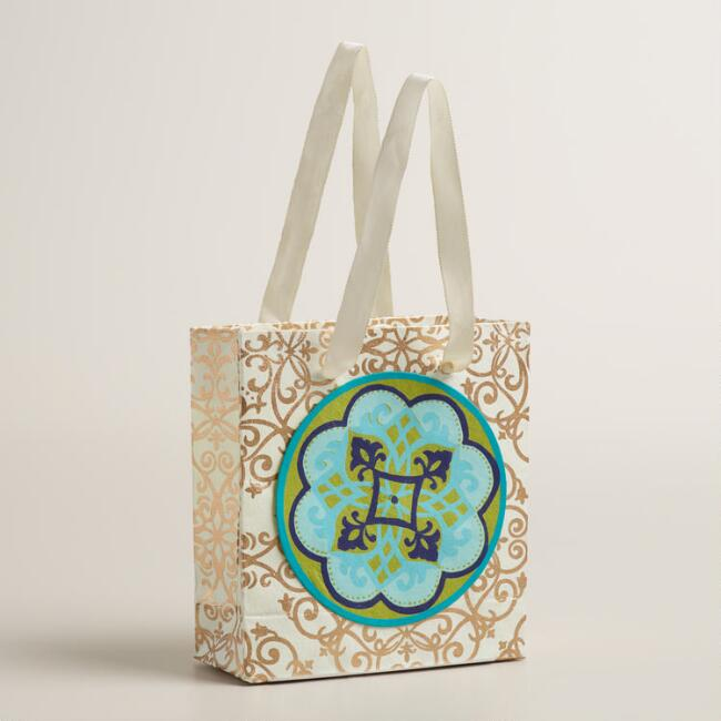Mini Baroque Medallion Handmade Gift Bags Set of 2