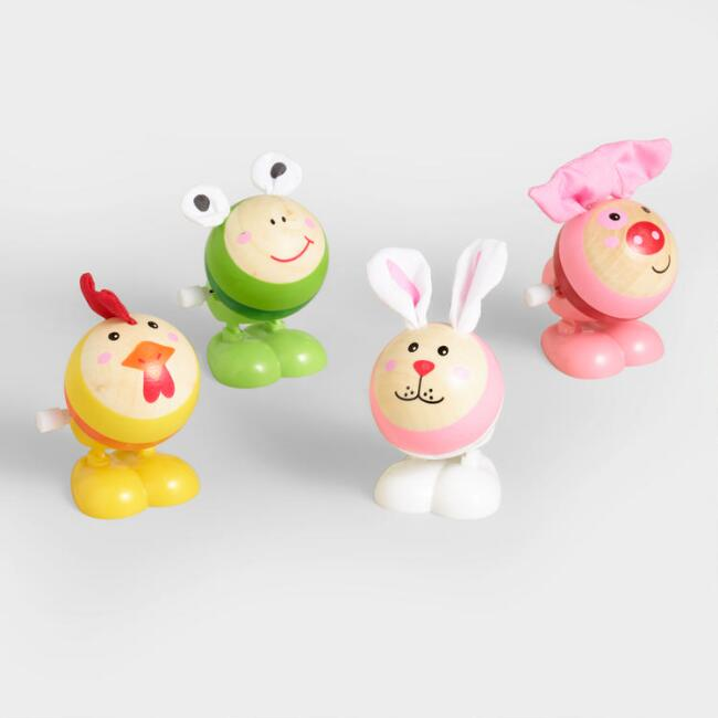 Wood Happy Hoppers Set of 4