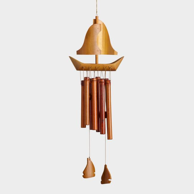 Bamboo Sailboat Wind Chime