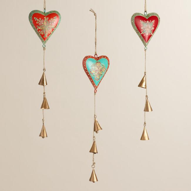 Metal Hearts Hanging Decor Set of 3