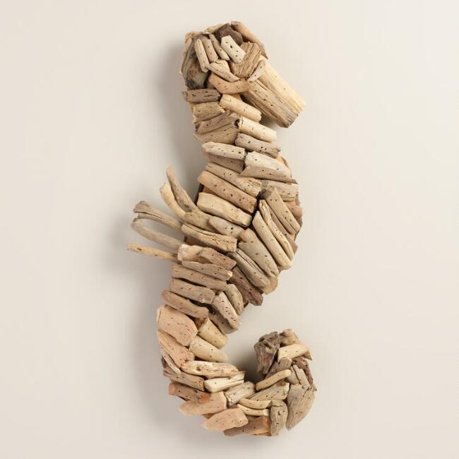 Driftwood Seahorse Hanging Decor