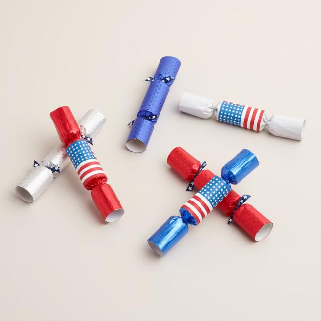 Mini Patriotic Crackers Set of 2