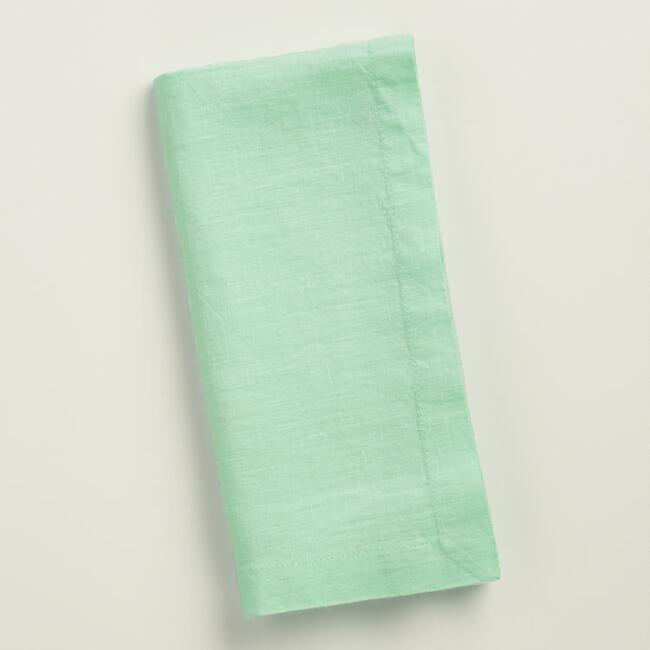 Aqua 100% Linen Napkins Set of 4