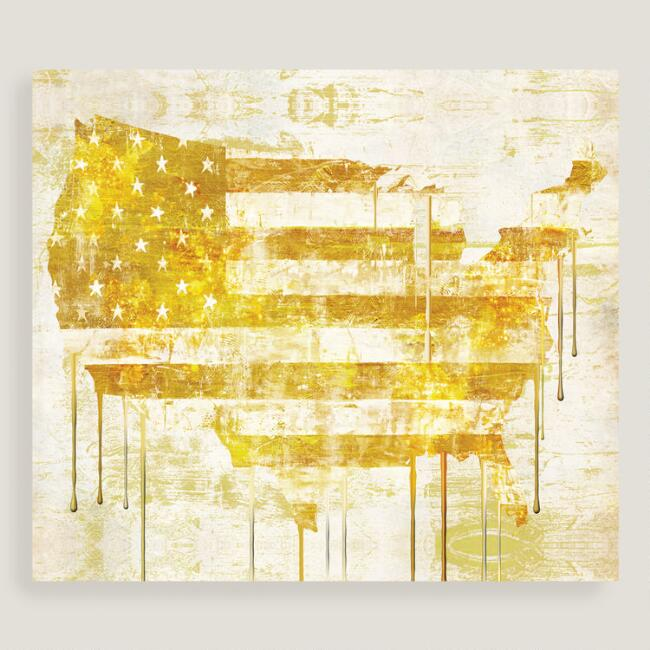 Golden Flag I by Mindy Sommers